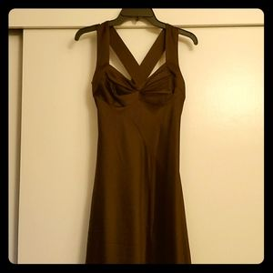 Calvin Klein chocolate formal full-length gown